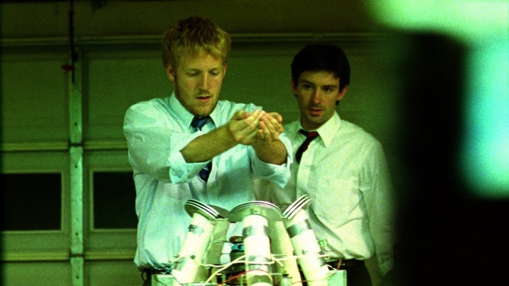 Shane Carruth and David Sullivan in 'Primer.'