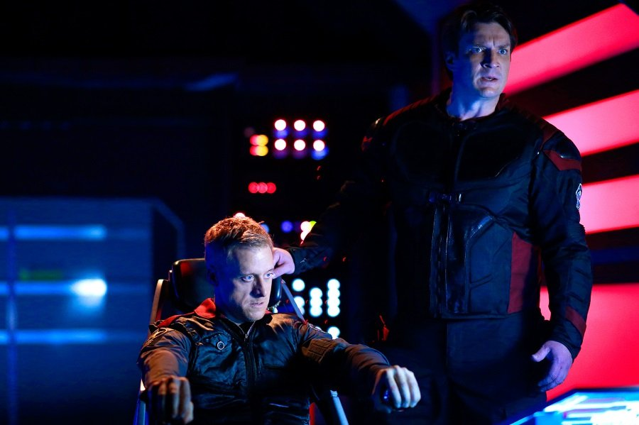 Alan Tudyk and Nathan Fillion in Con Man