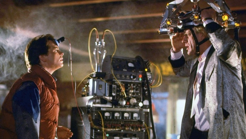 Michael J. Fox and Christopher Lloyd in 'Back to the Future.' The entire trilogy streams on Amazon in October 2015