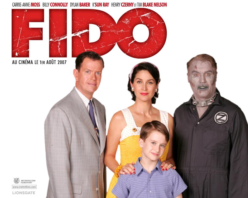 Billy Connelly is 'Fido' in the 2007 zombie comedy with Dylan Baker and Carrie-Anne Moss