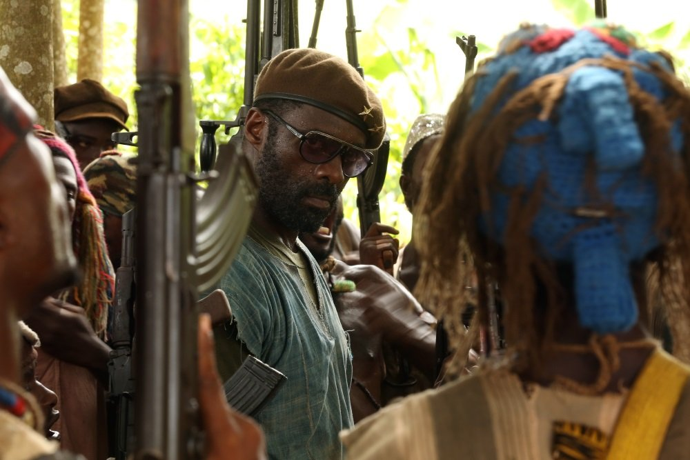 Idris Elba in Cary Fukunaga's 'Beasts of No Nation,' a Netflix original movie.