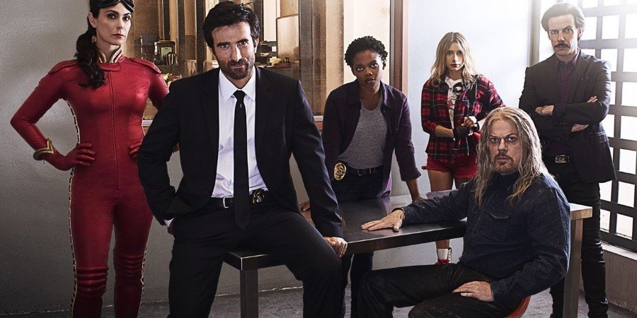 Michelle Forbes, Sharlto Copley, Susan Heyward, and Eddie Izzard star in 'Powers,' now on Crackle TV