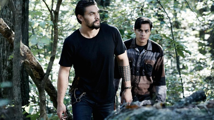 Jason Momoa and Kiowa Gordon in the Sundance Channel original series 'The Red Road'