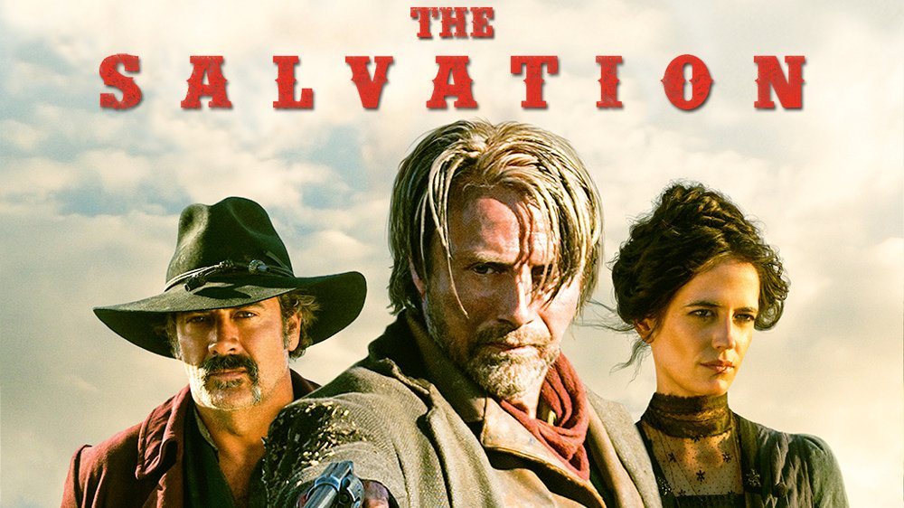 Mads Mikkelson, Eva Green, and Jeffrey Dean Morgan in Kristian Levring's revenge western 'The Salvation.'