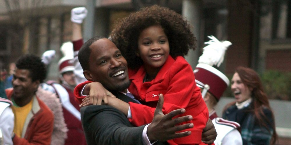 Jamie Foxx and Quvenzhané Wallis in the 2014 remake of the musical 'Annie'