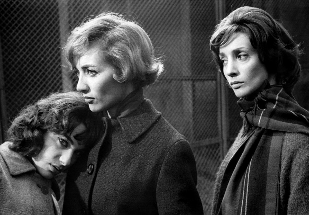 Bernadette Lafont, Stephane Audran, and Clotilde Joano in Claude Chabrol's 'Les Bonnes Femmes'