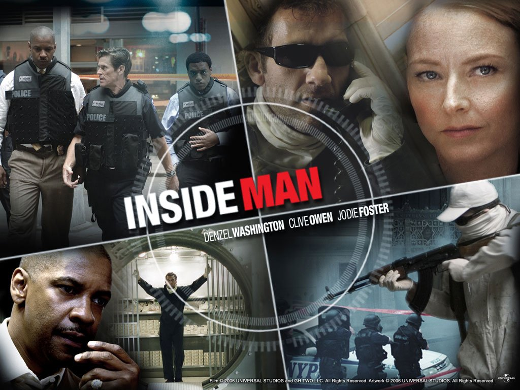Clive Owen, Denzel Washington, and Jodie Foster star in Spike Lee's 'Inside Man.'