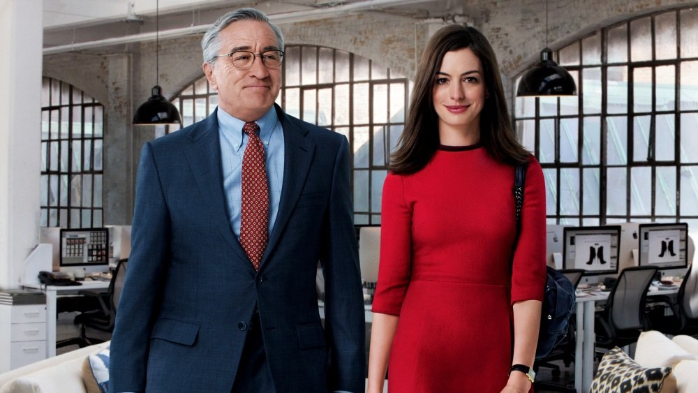 Robert De Niro and Anne Hathaway in 'The Intern' from filmmaker Nancy Meyer