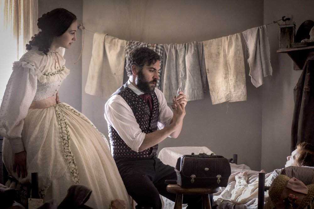 Hannah James and Josh Radnor in the PBS series 'Mercy Street'
