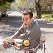 Paul Reubens is Pee-wee Herman in 'Pee-wee's Big Adventure.'
