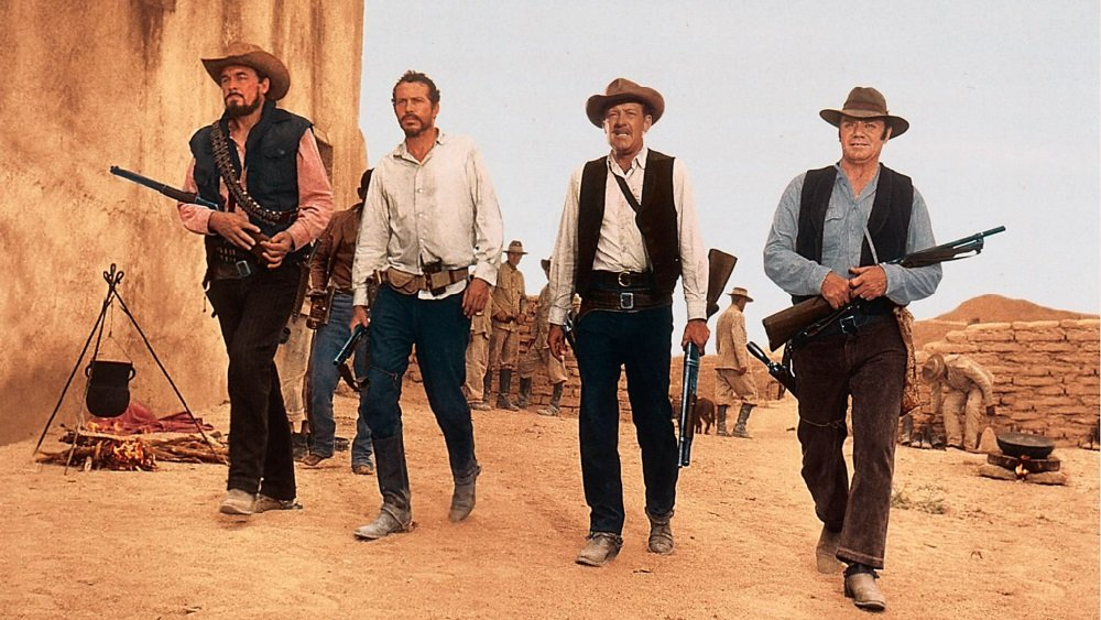 Ben Johnson, Warren Oates, William Holden, and Ernest Borgnine star in Sam Peckinpah's western masterpiece 'The Wild Bunch.'