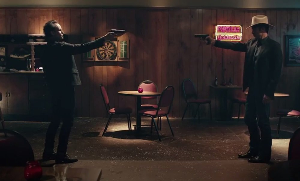 Walton Goggins and Timothy Olyphant in the FX original series 'Justified'