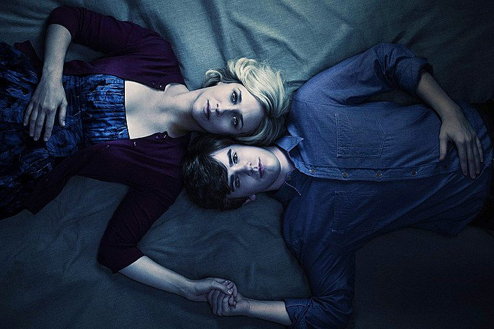 Vera Farmiga and Freddie Highmore in the A&E series 'Bates Motel'
