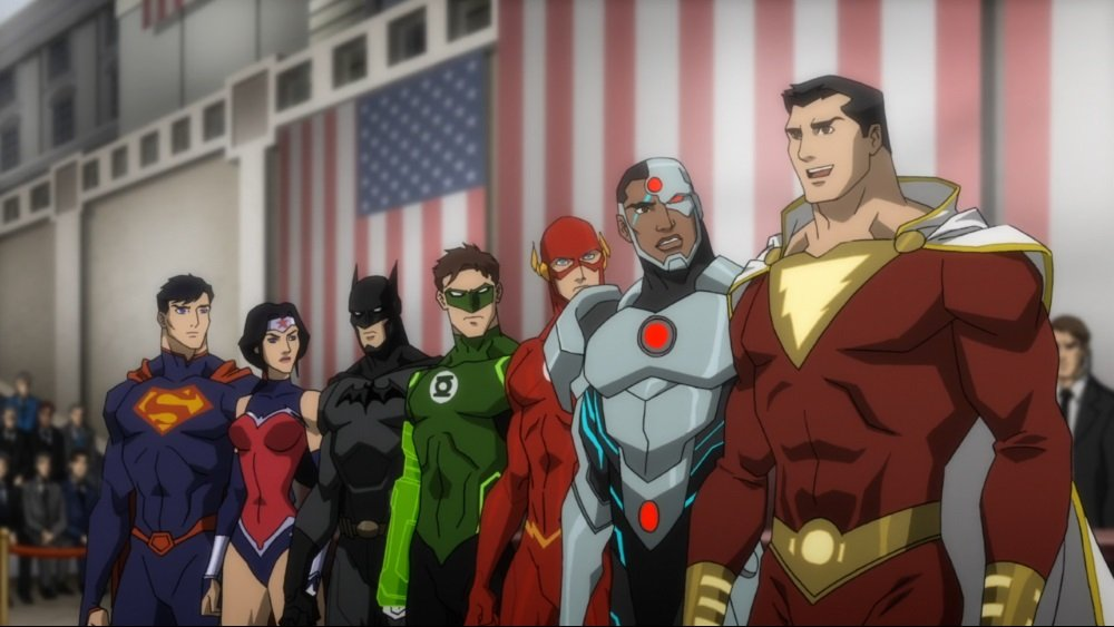 "The animated feature ""Justice League: War"""