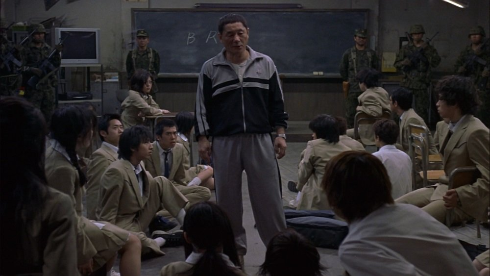 Takeshi Kitano in 'Battle Royale,' directed by Kinji Fukasaku.