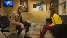 Jeff Goldblum and Ellie Kemper in the Netflix original series 'Unbreakable Kimmy Schmidt: Season 2.'