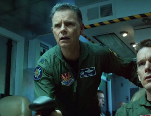 Zoë Kravitz, Bruce Greenwood, and Ethan Hawke in 'Good Kill,' directed by Andrew Niccol
