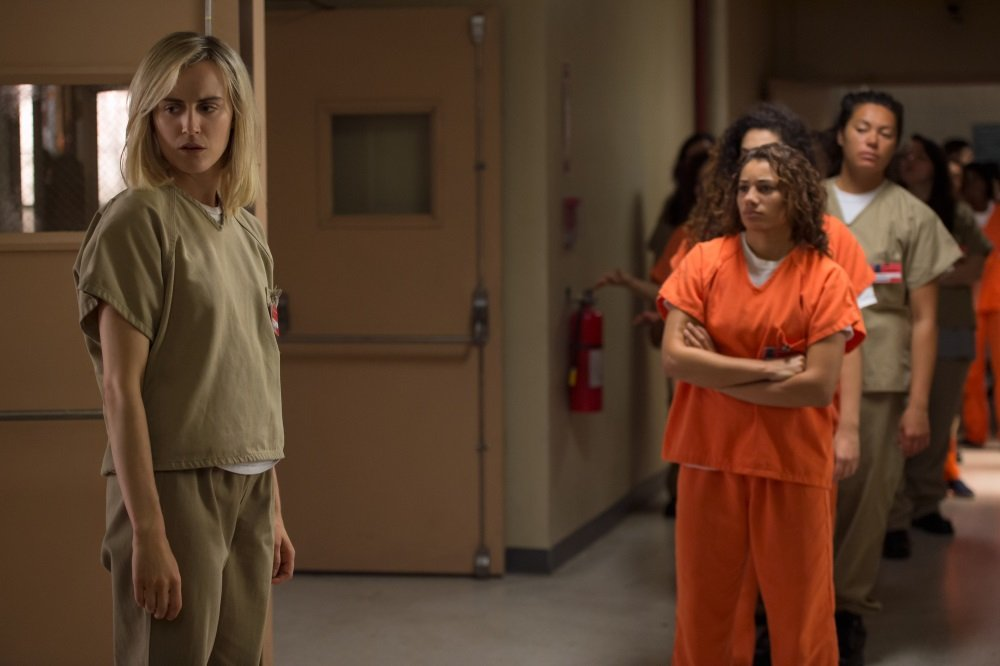 Taylor Schilling in the Netflix original series 'Orange is the New Black: Season 4'