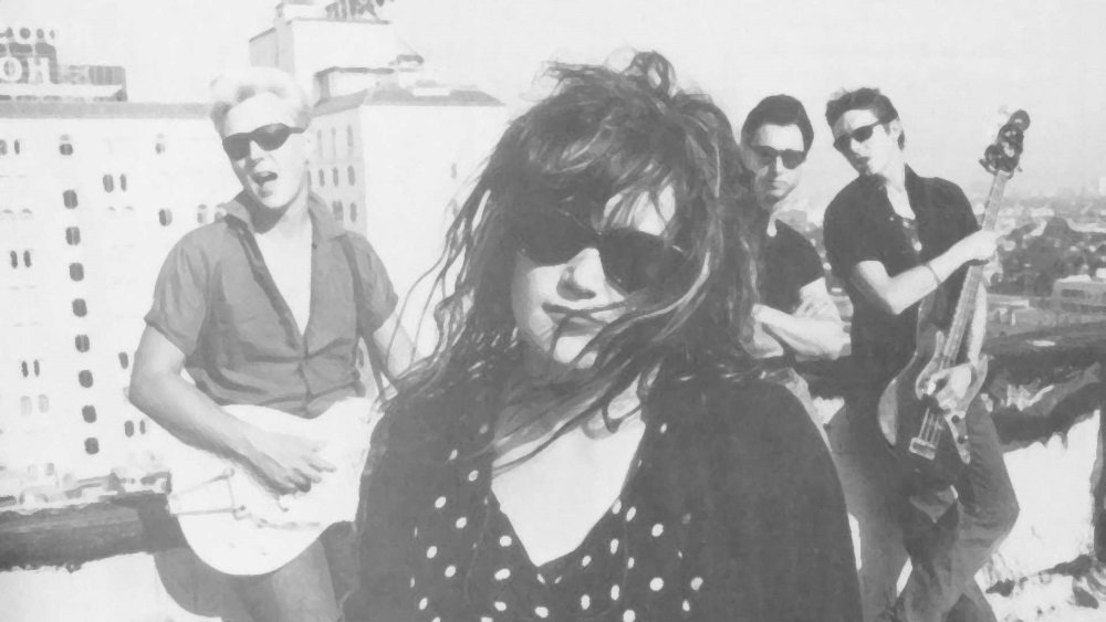 Billy Zoom, Exene Cervenka, D.J. Bonebrake, and John Doe are X in the rock doc 'X: The Unheard Music.'