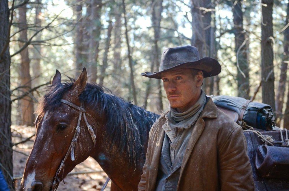 Michael Fassbender stars in the darkly absurdist frontier odyssey 'Slow West'