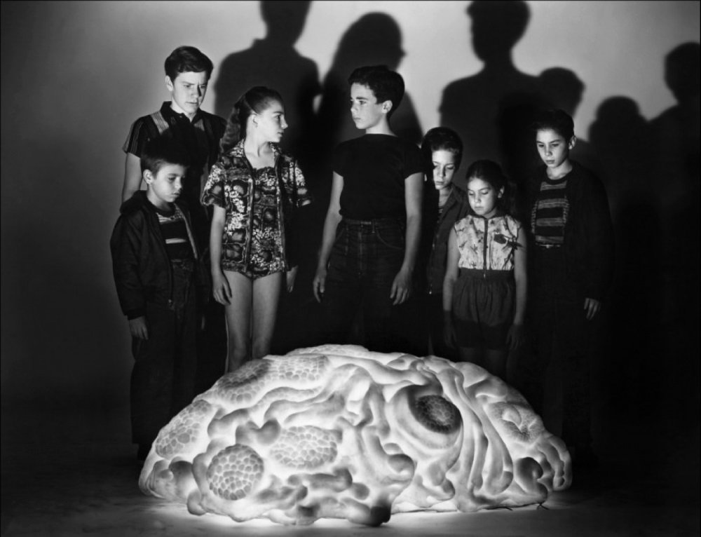 Jack Arnold directs the 1958 science fiction cult film 'Space Children,' with