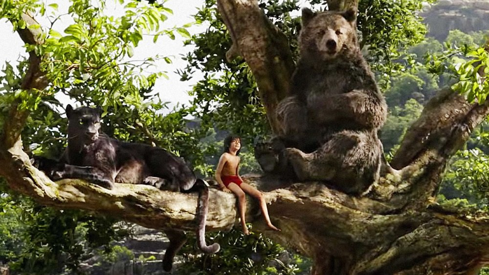 Mowgli and friends in Disney's live-action 'The Jungle Book.'