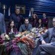 The cast of NBC's 'Hannibal,' starring Hugh Dancy, Caroline Dhavernas, Laurence Fishburne, and Mads Mikkelsen