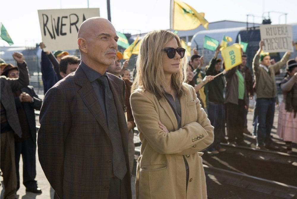 Billy Bob Thornton and Sandra Bullock in David Gordon Green's 'Our Brand is Crisis'