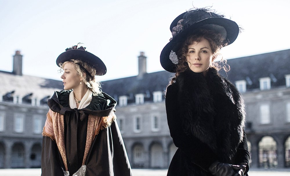 "Chloe Sevigny and Kate Beckinsale star in ""Love & Friendship,"" based on the novella by Jane Austen."