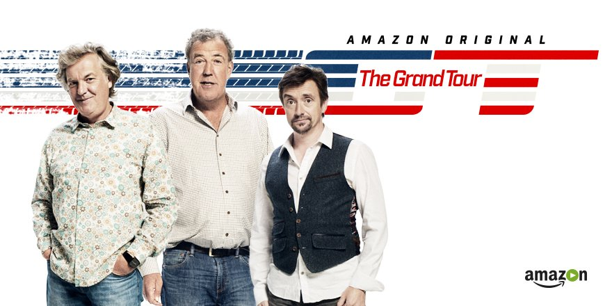 Jeremy Clarkson, Richard Hammond and James May in The Grand Tour