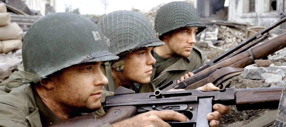Tom Hanks and Matt Damon in Steven Spielberg's 'Saving Private Ryan'