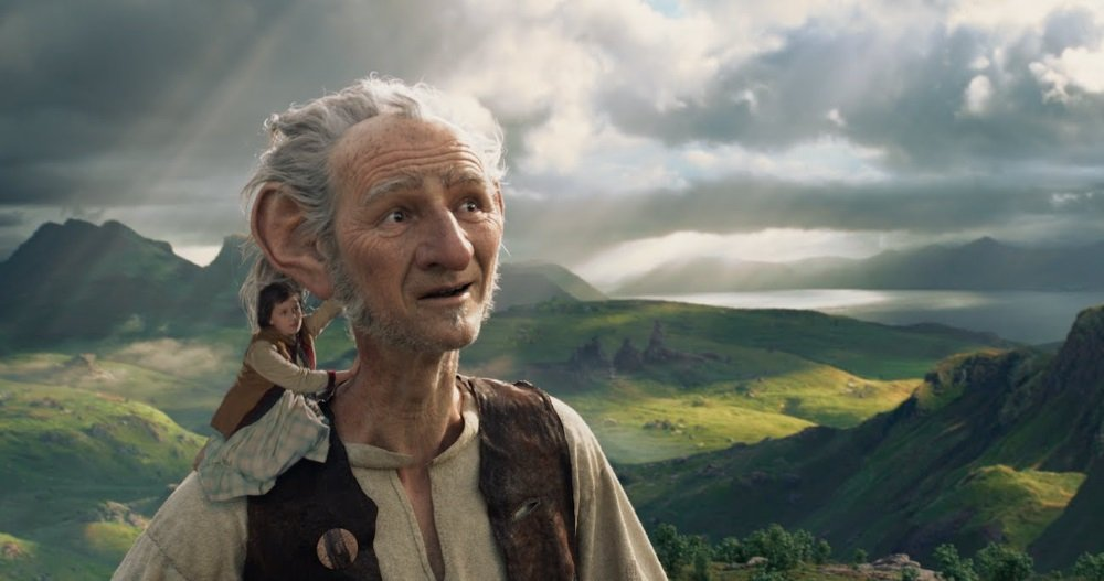 "Ruby Barnhill and Mark Rylance star in Steven Spielberg's ""The BFG."""