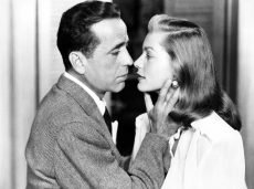 Humphrey Bogart and Lauren Bacall star in the film noir 'Dark Passage' directed by Delmer Daves