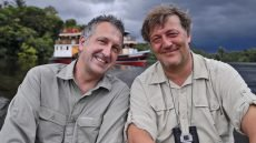 Mark Carwardine and Stephen Fry host the BBC natural history series 'Last Chance to See'