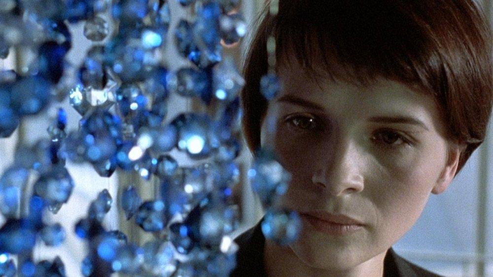 Juliette Binoche, Julie Delpy, and Irene Jacob star in Krzysztof Kieslowski 's Blue, White, and Red trilogy