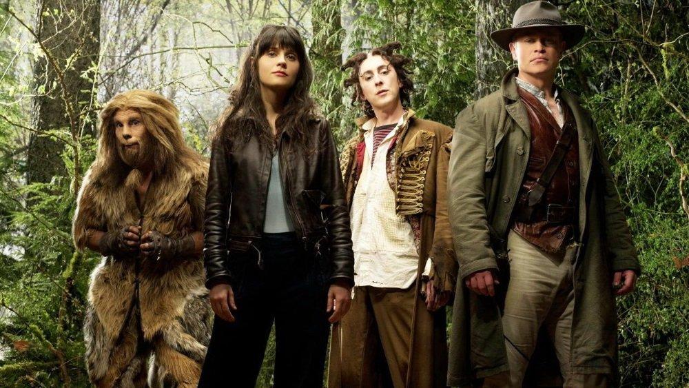 Zooey Deschanel, Raoul Trujillo, Alan Cumming, and Neal McDonough in a revisionist Oz