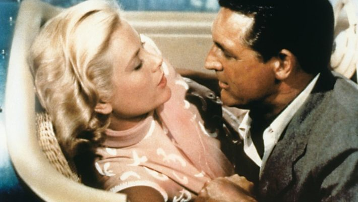 Grace Kelly and Cary Grant, directed by Alfred Hitchcock