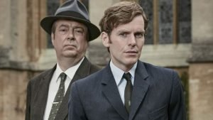 "Roger Allum and (Shaun Evans on ""Endeavour: Season 3"""