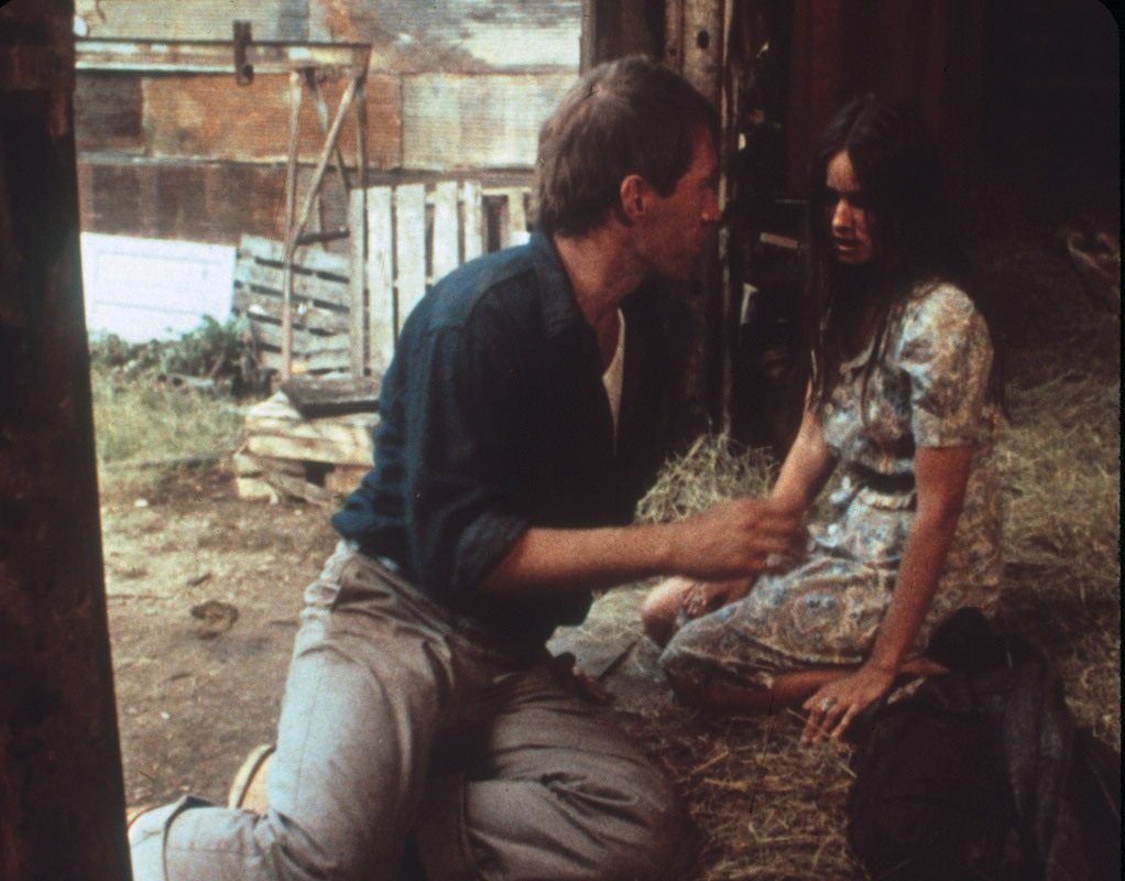 "David Carradine and Barbara Hershey in Martin Scorsese's ""Boxcar Bertha"""