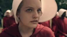 "Elisabeth Moss in ""The Handmaid's Tale."""
