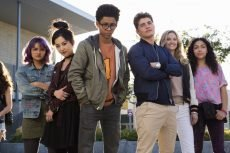Ariela Barer, Lyrica Okano, Rhenzy Feliz, Gregg Sulkin, Virginia Gardner, and Allegra Acosta in the Marvel Comics series