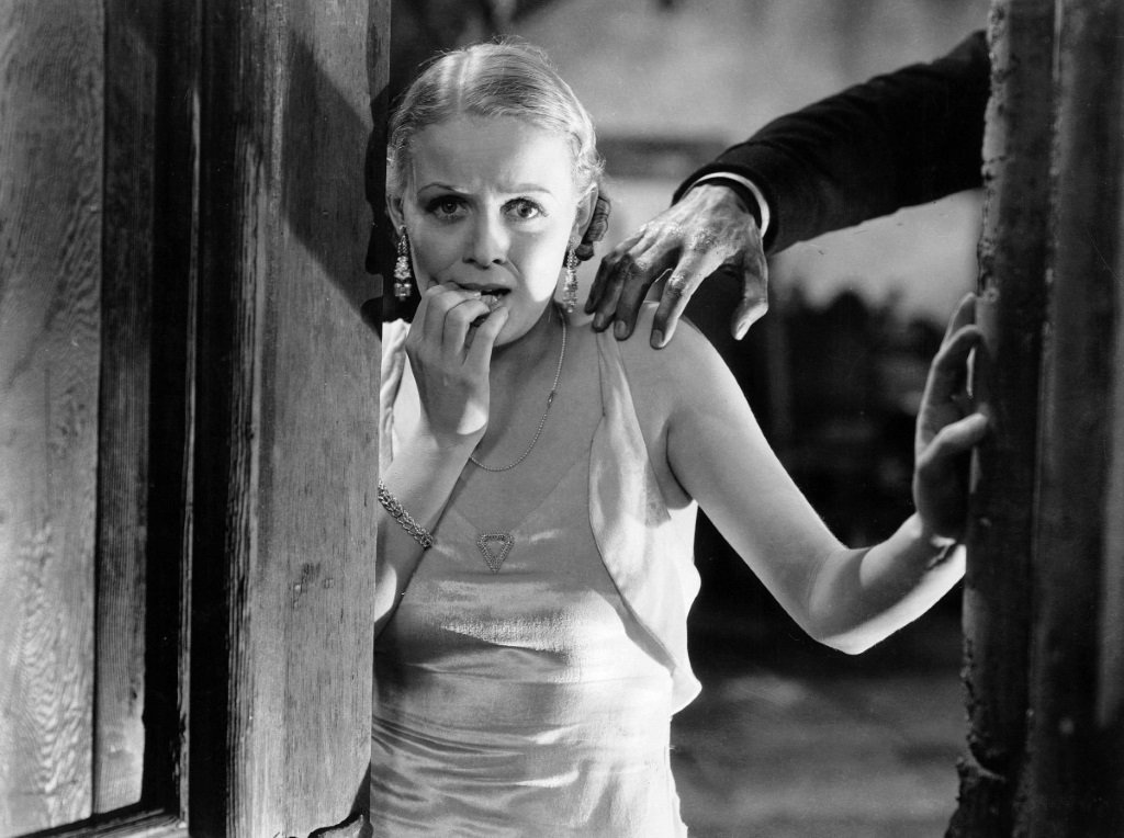 Gloria Stuart stars with Boris Karloff, Melvyn Douglas, Charles Laughton, Raymond Massey, and Ernest Thesiger in James Whale's classic horror comedy