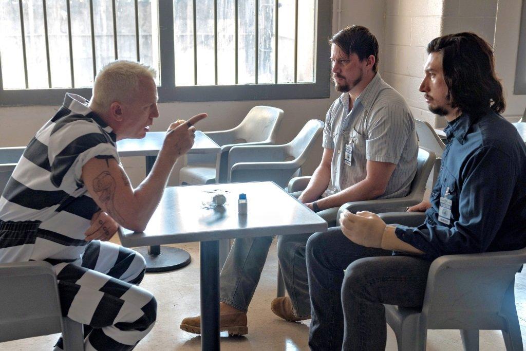Daniel Craig, Channing Tatum, and Adam Driver in Steven Soderbergh's red state heist comedy