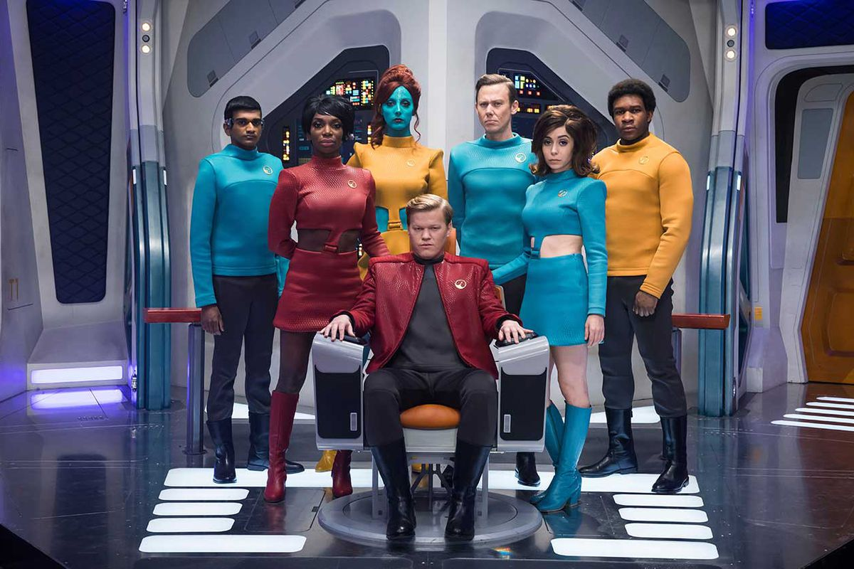 Jesse Plemons is captain of the USS Callister in the fourth season of Charlie Booker's anthology