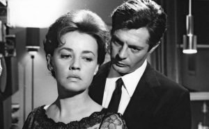 "Jeanne Moreau and Marcello Mastroianni in Michelangelo Antonioni's drama from his ""trilogy of alienation"""