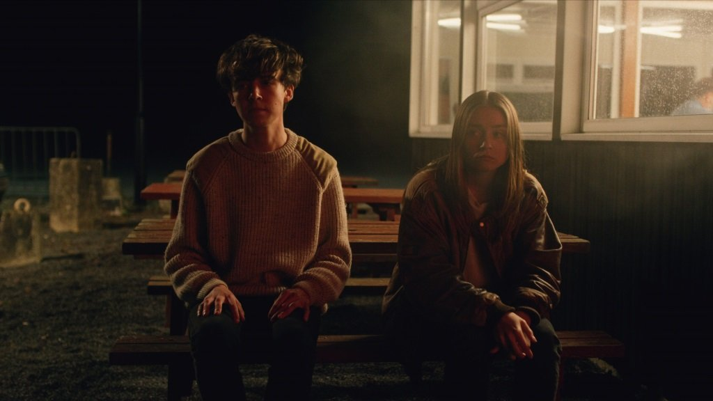 Alex Lawther and Jessica Barden in the British young adult series