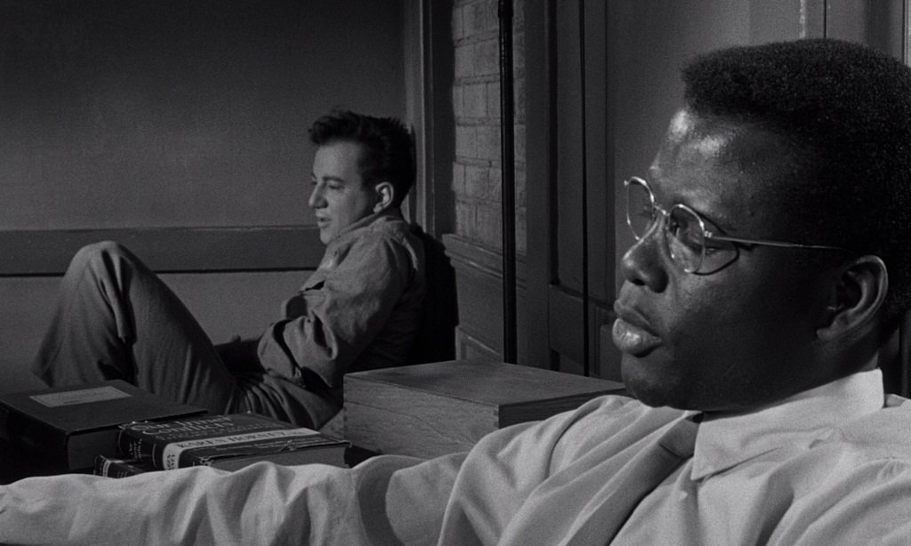 Sidney Poitier and Bobby Darin star in the psychological drama directed by Hubert Cornfield