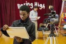 Jahi Di'Allo Winston and Rio Mangini in the Netflix teen comedy set in Boring, Oregon