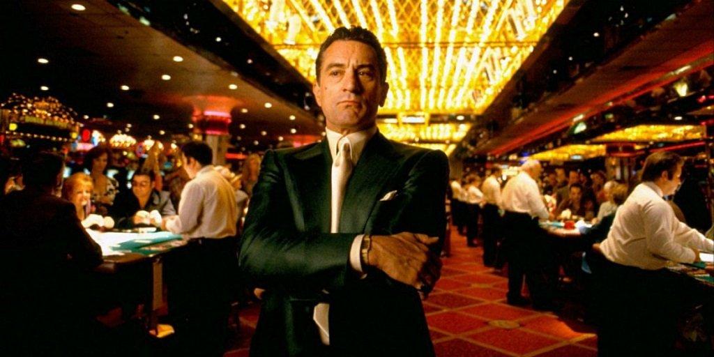 Robert De Niro in the Martin Scorese gangster epic with Joe Pesci and Sharon Stone