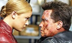 Arnold Schwarzenegger takes on Kristanna Loken in the Terminator sequel directed by Jonathan Mostow